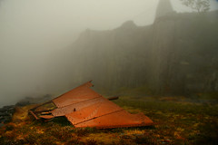 Abandoned flying machine (PentlandPirate of the North) Tags: fog mist dinorwic snowdonia northwales rust slate quarry
