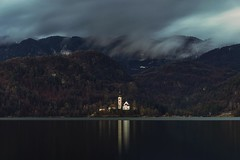 0794 A Church On The Lake (Hrvoje Simich - gaZZda) Tags: outdoors longexposure clouds travel slovenia europe bled nikon nikond750 nikkor283003556 gazzda hrvojesimich