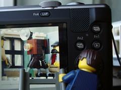 Photographing the Photographer (captain_joe) Tags: toy spielzeug 365toyproject lego minifigure minifig modularhouse assemblysquare macromondays photographygear fotograf camera