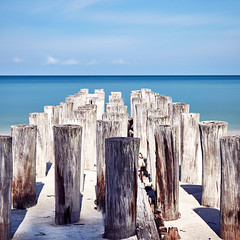Beach pilings (Explored Jul 18) (another_scotsman) Tags: pilings beach naples florida longexposure