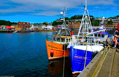 Scotland West Highlands Argyll Oban from the fishing trawler dock 7 July 2018 by Anne MacKay (Anne MacKay images of interest & wonder) Tags: scotland west highlands argyll oban town fishing trawler dock sea xs1 7 july 2018 picture by anne mackay