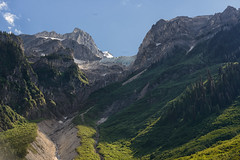 Nature's Amphitheatre (muscovite) Tags: i am canadian iamcanadian glacier icefall limestone selkirkmountains
