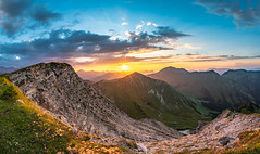 Sonnenuntergang an der Fleischbank (F!o) Tags: hdr fleischbank karwendel tirol panorama sony a6500 sigma sigma16mm alpen alps mountains berge