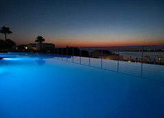 Paphos sunset. (S.K.1963) Tags: elements cyprus paphos coral bay infinity pool sky sunset sea reflection olympus pen f 12 40mm 28 pro