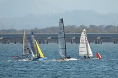 800_4810 (Lox Pix) Tags: queensland qld australia catamaran trimaran hyc humpybongyachtclub winterbash loxpix foilingcatamaran foiling bramblebay sailing race regatta woodypoint boat