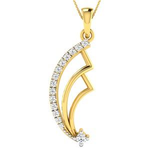 Real Diamond Pendant Yellow Gold