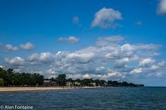 Ontario Beach Park (Al Fontaine) Tags: water waterway waterways park parks sky clouds river rivers waterfront nikon nikond7000