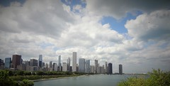 Looking North To The Loop (Spebak) Tags: spebak chicago theloop lake lakemichigan city clouds bluesky cityscape illinois panorama skyline