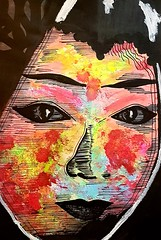 Aiko (franck.sastre) Tags: visages caras art lips eyes painting pictures colors streetart