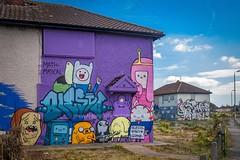 Graffiti (Snapdragon Lincs) Tags: banksyvandalismkingstoneerieghosttown preston road hull house estate graffiti colourful interesting clever unique council abandoned empty yorkshire paint bright cheerful