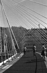 Zubizuri (Gabo Barreto) Tags: bilbao paisvasco basquecountry spain bridge grain isaristapremiumtrix film 35mm canonfd canona1 analoguephotography filmcamera filmisnotdead selfdeveloped scannedfromfilm hc110