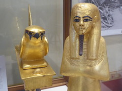 Falcon & Mummiform Deity (Aidan McRae Thomson) Tags: tutankhamun sculpture statue ancient egyptian cairo museum egypt gilded
