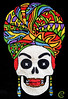 Marie Laveau (FifiMagnolia) Tags: marielaveau voodoopriestess handembroidered textileart neworleans hand embroidered black linen