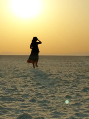 Not alone (Onlyshilpi) Tags: silhouette bhuj kutch rannofkutch sunset dusk gujarat
