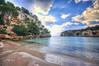 (209/18) Salida a mar abierto (Pablo Arias) Tags: pabloarias photoshop photomatix capturenxd españa cielo nubes agua mar mediterráneo bahía paisaje pino costa playa calamecarella menorca
