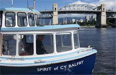 Who is Cy Balfry.. (leuntje) Tags: vancouver canada britishcolumbia granvilleisland burrardbridge falsecreek falsecreekferries ferry cybalfry artdeco