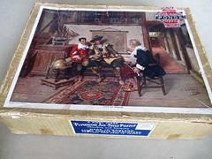 Gems of Wisdom - box lid (pefkosmad) Tags: jigsaw puzzle pastime hobby leisure plywood wood wooden vintage missingpieces onepiecemissing old ponda art painting genre gemsofwisdom albertfriedrichschroder