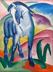 Blaues Pferd I, Blue Horse I (1911) (Matilda Diamant) Tags: rusalka lenbachhaus munich art museum gallery blue rider painter paint picture franz marc expressionism german blauespferd bluehorse1911