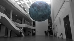 blue moon (mcginley2012) Tags: cameraphone lumia1020 giaf18 moon bluemoon art exhibition nuig giaf ireland colourpop selectivecolour museumofthemoon