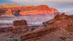 Rock Layers (Kirk Lougheed) Tags: capitolreef capitolreefnationalpark coloradoplateau sunsetpoint usa unitedstates utah cliff landscape mountain nationalpark outdoor park sunset