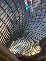 Chadstone Shopping Mall (Marian Pollock) Tags: australia melbourne chadstone shoppingcentre mall architecture roof windows atrium building sky clouds reflections grid transparent glass