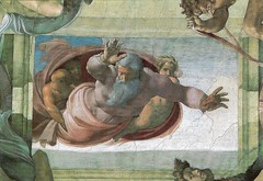 Sistine Chapel - God Seperates the Land from the Water (Seán Creamer) Tags: sistine michelangelo chapel vatican catholicism catholic painting lastjudgement adam god creation religion sistinechapel