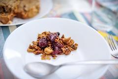 granola with cherries (Gail at Large | Image Legacy) Tags: 2018 portugal vilanovadegaia brunch cat gailatlargecom testkitchen