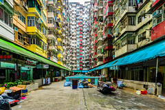 Shopping Arcade - Hongkong 182/188 (*Capture the Moment*) Tags: 2017 architektur balconies balkone colours condominium courtyard estate fenster flats fotowalk hauses hochhäuser hongkong houses häuser innenhof intothesky sky skyscraper sonya7m2 sonya7mii sonya7mark2 sonya7ii sonyfe1635mmf4zaoss sonyfe41635 sonyilce7m2 vintage windows wohnungen farbig indenhimmel urbanliving