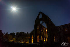 Hear Me and Rejoice #5 (TVZ Photography) Tags: tinternabbey tintern chepstow wales church abbey ruin derelict decay architecture artificiallight lights night evening moon longexposure sonya7r voigtlander 21mm ultron
