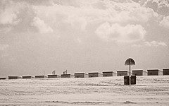 Cabines de mer (MRI2009) Tags: mer plage nieuwpoort noiretblanc