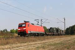 DB Cargo 152 057-6 Militärzug, Waghäusel (TaurusES64U4) Tags: bundeswehr db br152