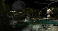 Evil Awaits... (FlashMe Photography) Tags: haunted evil scary moonlight creepy secondlife versus