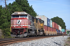 NS 221 10/1/17 (tjtrainz) Tags: ns norfolk southern 221 intermodal train doraville ga georgia division piedmont greenville district honoring first responders sd60e 911 up union pacific sd70m emd electro motive