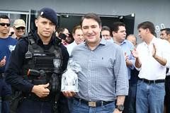 Solenidade de entrega da nova sede da Secretaria Municipal de Políticas Sobre Drogas e Proteção à Comunidade, em Cascavel (PR)
