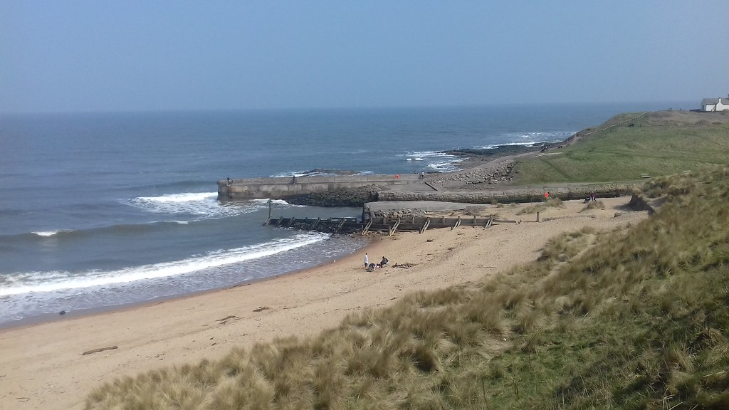 Beach and sand dunes at Seaton Sluice