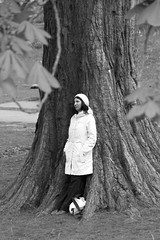 IMG_5916 (TMM Cotter) Tags: tree solitary person beacon hill park victoria bc monochrome