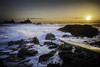 Corbiere Lighthouse at Sunset (Peter R. Howard) Tags: corbiere lighthouse jersey sunset rocks waves sea foam slipway shadows sky vapourtrail ferry peterrhoward photography ngc