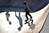 Learning on blue wheels (PURIFM) Tags: skate slide happy sport