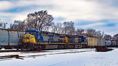 Waterloo, Iowa 2/17/2018 (Doug Lambert) Tags: csxt311 generaleectric ge ac4400cw diesel locomotive ethanol train csx railfan railroad canadiannational midwest waterloo iowa canont3i winter snow