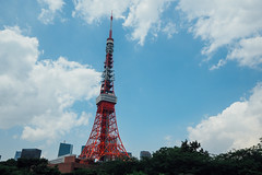 Tokyo Tower|東京鐵塔 (里卡豆) Tags: minatoku tōkyōto 日本 jp chūōku olympus penf 東京 tokyo tokyocity 關東 panasonicleicadg818mmf2840 panasonic leica dg 818mm f2840