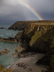 """Rainbow seals"" - Godrevy Point, Cornwall, UK (alejandro.romangonzalez) Tags: godrevy seals landscape rainbow seascape cornwall nature coast coastalpath storm cliff hiking outdoors wildlife"