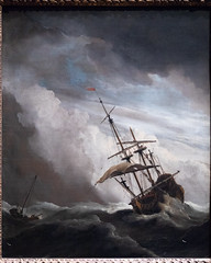A Ship on the High Seas Caught by a Squall, Known as 'The Gust' | Willem van de Velde II | c.1680 | The Rijksmuseum-33 (Paul Dykes) Tags: rijksmuseum museumofthenetherlands art gallery museum amsterdam netherlands nl holland ashiponthehighseascaughtbyasquall thegust willemvandeveldeii 1680