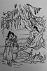 Rotkäppchen (michael_hamburg69) Tags: grimmsmärchen buch book fairytales gebrüdergrimm grimm printedaround1955 50s märchenbuch rotkäppchen undderbösewolf littleredridinghood