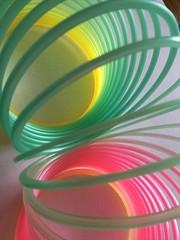 HMM Plastic (Martellotower) Tags: plastic macromondays spiral slinky toy