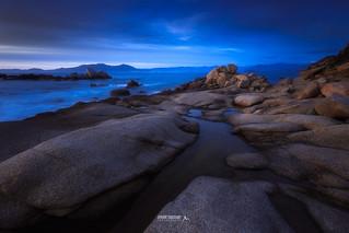 Heure bleue sur la baie d'Ajaccio