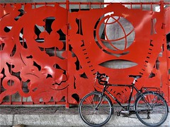 The Recognition Panels (Mary Brogger, 1996) (Chicago Bike Adventures) Tags: cyclotourism bikerides bicycling biketours biketouring bikeriding travel tourism sightseeing citysightseeing chicago city urban publicart sculpture urbancycling urbanbiking citycycling citybiking bronzeville femaleartists