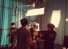 SCM team setting up for next shot #behind the scenes #web video