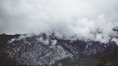 Up in the Clouds (michaelnugent) Tags: canon eos 5d mark ii ef 24 105 mm l lens highway one 1 banff park parc alberta explore travel canada mountains clouds trees sky overcast peak portrait landscape scenery trans