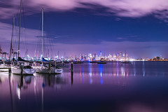 Melbourne's night (SemiXposed) Tags: melbourne williamstown outdoors water night