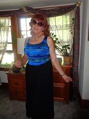 Proud To Be A Woman (Laurette Victoria) Tags: skirt redhead sunglasses woman laurette necklace